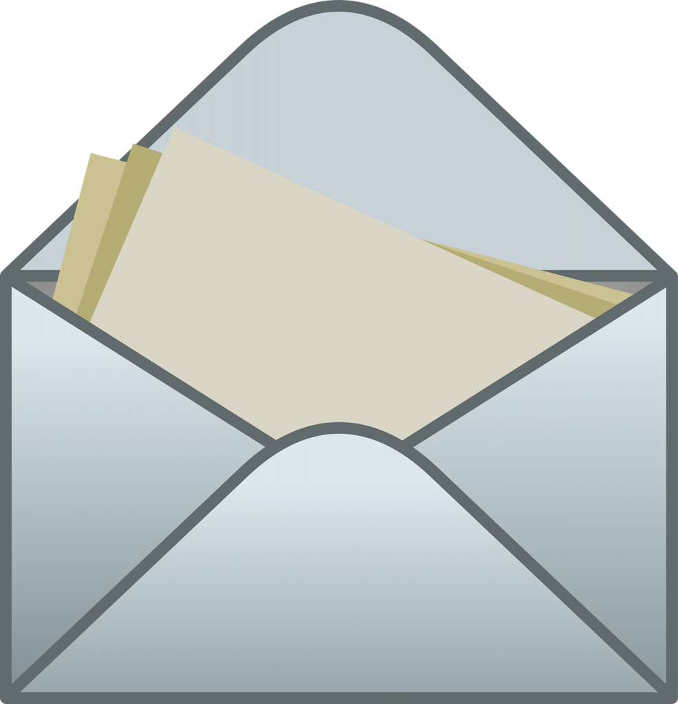 envelope, mail, letter